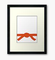 Judo Orange Belt Framed Print