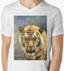 Drawing bengal tiger portrait Men's V-Neck T-Shirt