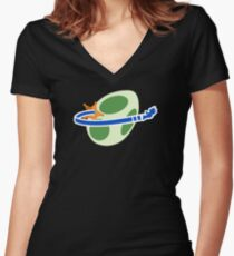 Plumbers' Galaxy Women's Fitted V-Neck T-Shirt