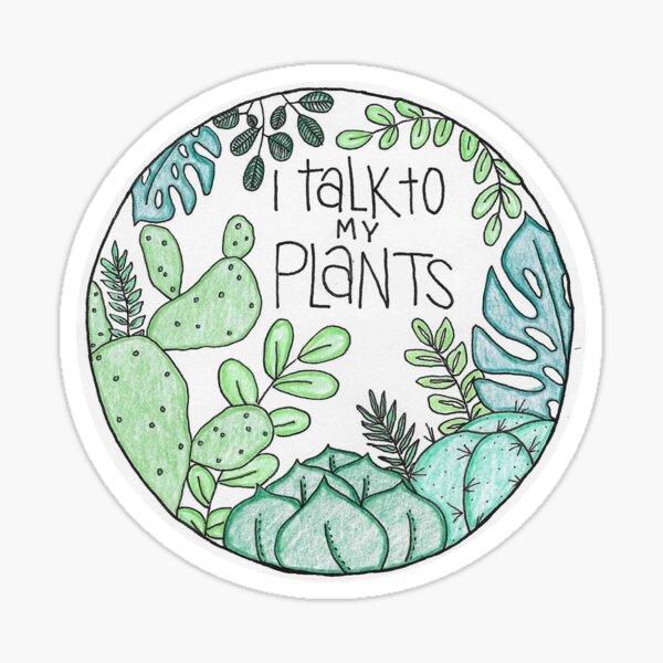 Hablo con mis plantas - COLOR Pegatina