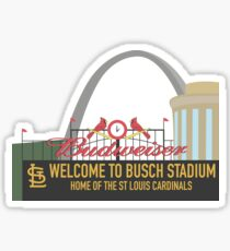 Busch Stadium St. Louis Sticker