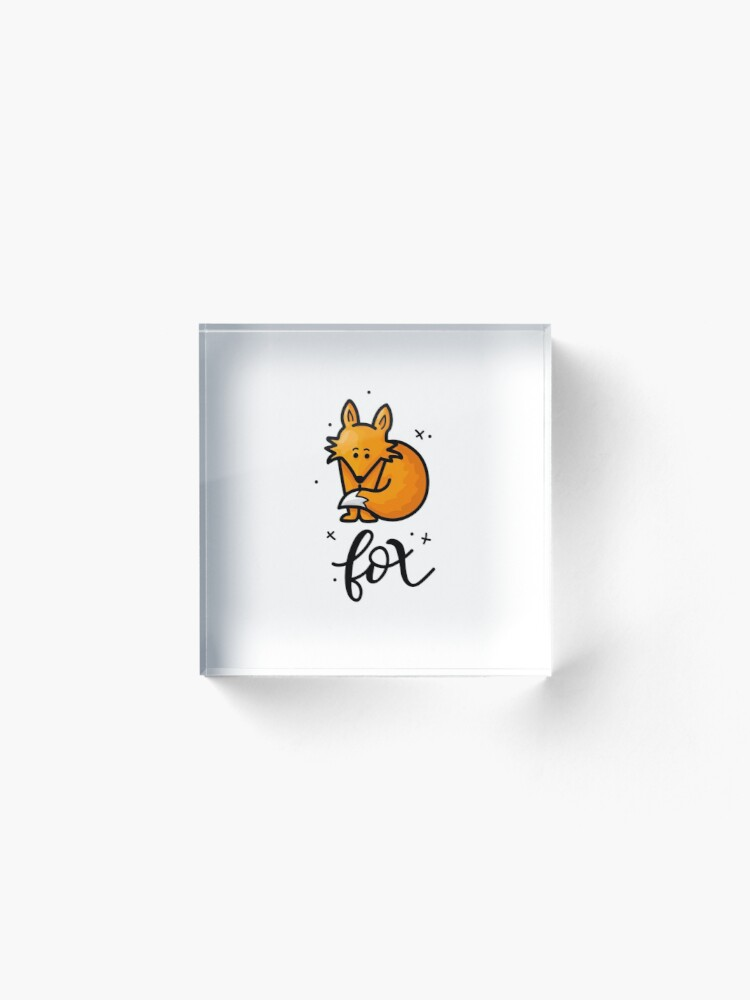 Alternate view of Fox Acrylic Block