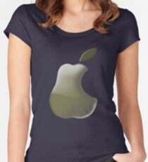 Pear: I wanna be a Logo 2!!!! Women's Fitted Scoop T-Shirt