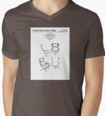 Iconic Eames Recliner/Lounger Lounge Chair Patent Drawings Men's V-Neck T-Shirt