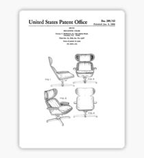 Iconic Eames Recliner/Lounger Lounge Chair Patent Drawings Sticker