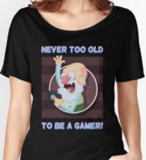 Old Gamer Dude - Never Too Old to be a Gamer Women's Relaxed Fit T-Shirt