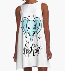 Elephant A-Line Dress