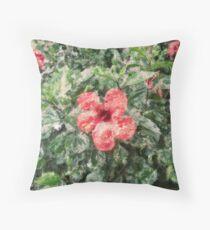 digital painting flower Throw Pillow