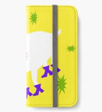 Goat on the Yellow Background. Neon iPhone Wallet/Case/Skin