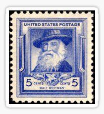Walt Whitman Stamp Sticker