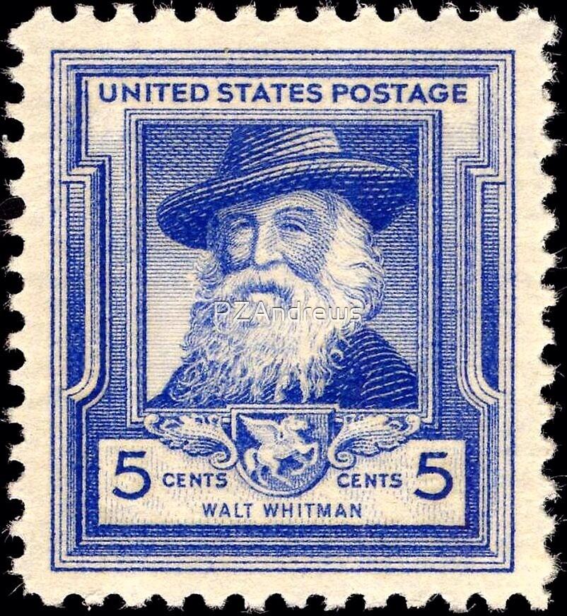 Walt Whitman Stamp by PZAndrews
