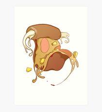 Hawaiian Cheese-Stuffed Crust Pizza Art Print