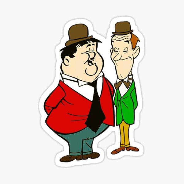Laurel and Hardy cartoon Sticker