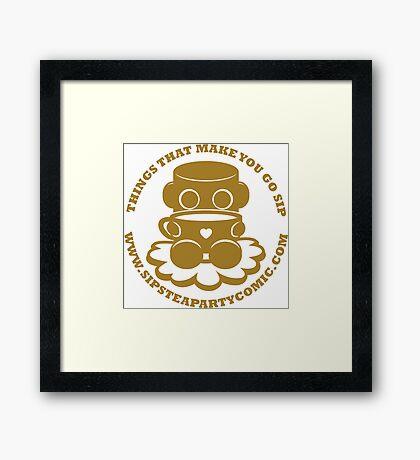 STPC: Things That Make You Go Sip (Gold O'BOT) 1.0 Framed Art Print
