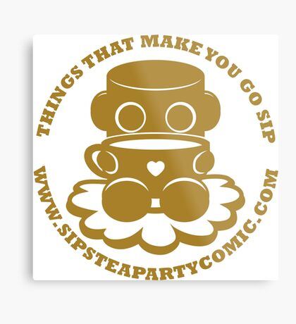 STPC: Things That Make You Go Sip (Gold O'BOT) 1.0 Metal Print