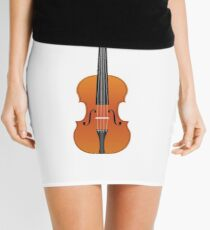 Violin Brown Color Mini Skirt