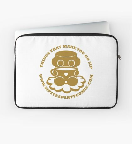 STPC: Things That Make You Go Sip (Gold O'BOT) 1.0 Laptop Sleeve
