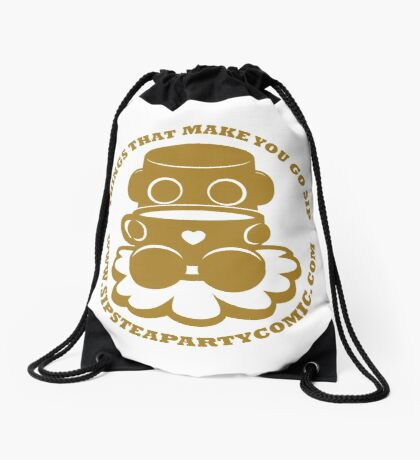 STPC: Things That Make You Go Sip (Gold O'BOT) 1.0 Drawstring Bag