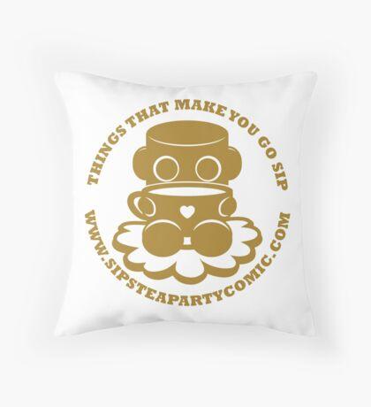 STPC: Things That Make You Go Sip (Gold O'BOT) 1.0 Throw Pillow