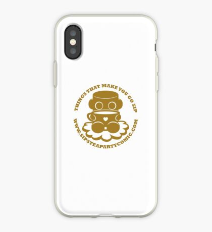 STPC: Things That Make You Go Sip (Gold O'BOT) 1.0 iPhone Case
