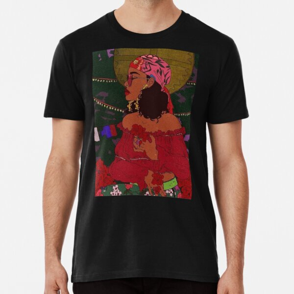 Rihanna Wild Thoughts Drawing Premium T-Shirt