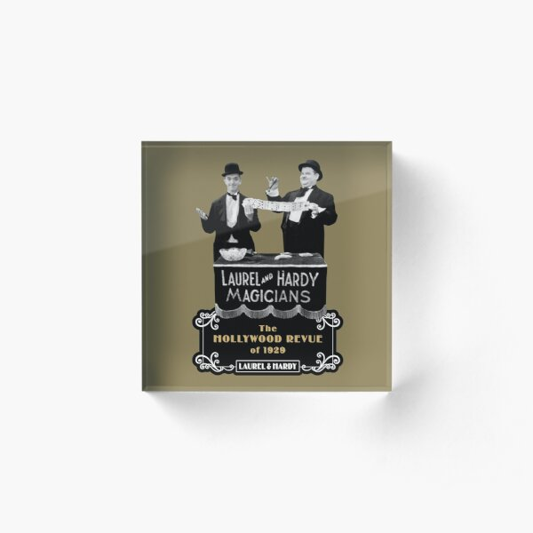 Laurel & Hardy - Magicians (The Hollywood Revue of 1929) Acrylic Block