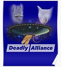 Laser Cat and UFO Rat Super Animal Deadly Alliance Poster