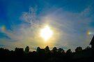 Double Sundog At Sunset by Ginny York
