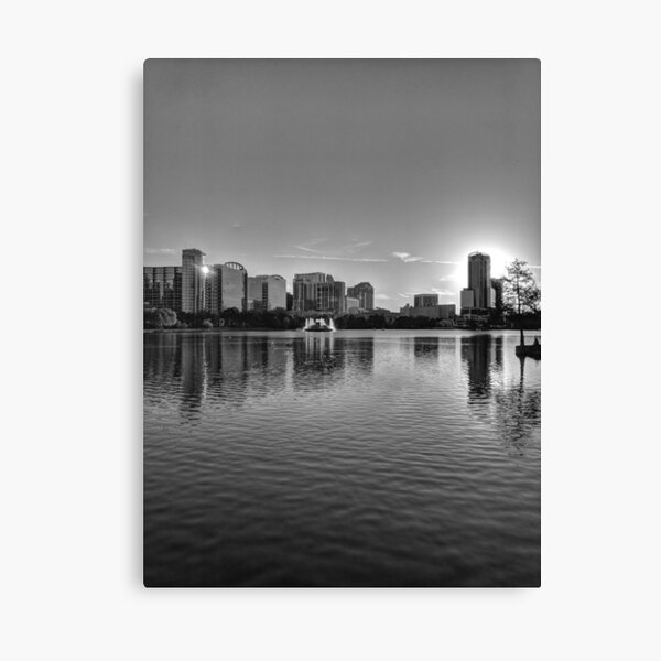 City Sunset in Downtown  Canvas Print