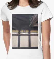 P, Street, New York, NY  Women's Fitted T-Shirt