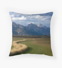 Curving To The Grand Throw Pillow