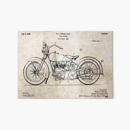 Harley Davidson Art Board Print