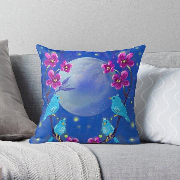 Blue birds Throw Pillow