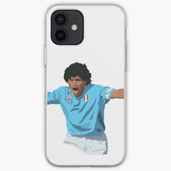 Diego Maradona - Capitaine de Napoli Coque souple iPhone