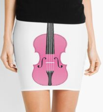 Violin Pink Mini Skirt