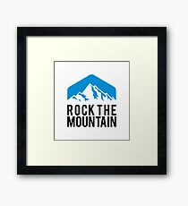 ROCK THE MOUNTAIN Framed Print