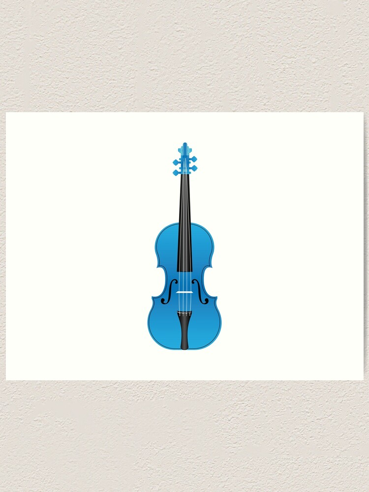 The Violin Art Print Beautiful 10x8 In