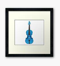 Violin light blue Framed Print