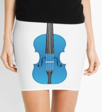 Violin light blue Mini Skirt