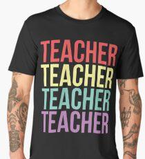 Teacher - Retro Vintage Typography Men's Premium T-Shirt