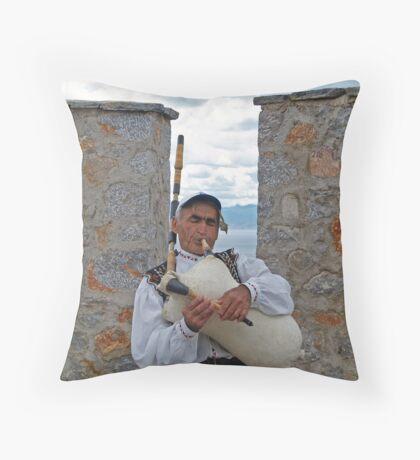 Balkan's Pipe Throw Pillow