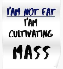 IM NOT FAT- FUNNY QUOTE Poster