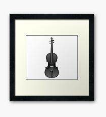 Violin Black Framed Print