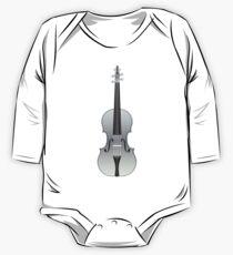 Violin Silver One Piece - Long Sleeve