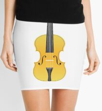 Violin Gold Mini Skirt