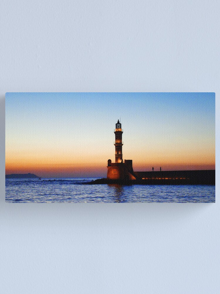Alternate view of sunset in Chania, Crete Canvas Print