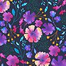 «Patrón de flor de acuarela floral de Fluro» de Dizzywonders
