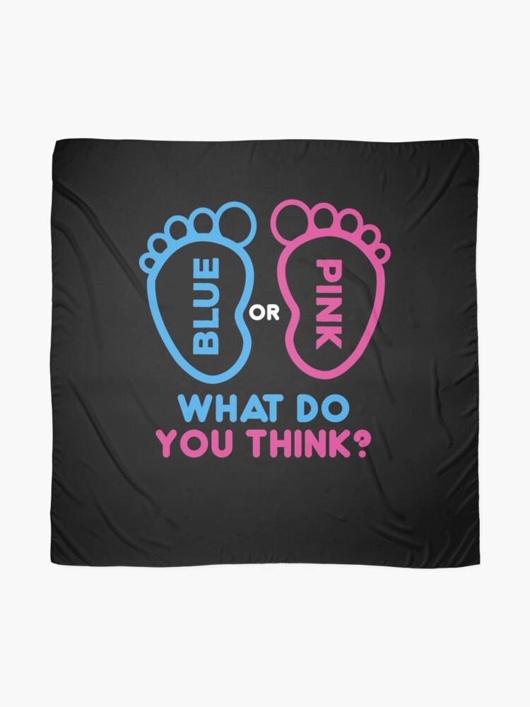 Alternative Ansicht von Blau oder Pink Was denkst du? Geschlecht enthüllen Hemden | schwangere Hemden | neue Muttergeschenke | Baby-Dusche-Geschenk | Baby Ankündigung Shirt | lustige neue Vatigeschenke | Schwangerschaft Ankündigung Geschenk Tuch