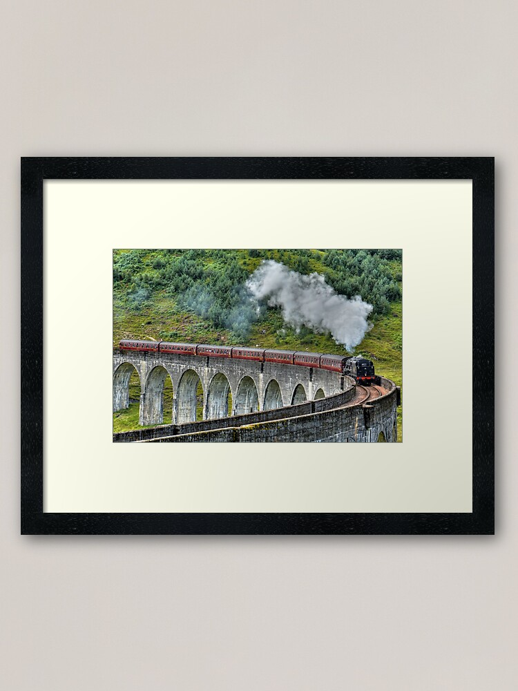 Alternate view of The Jacobite Steam Train. Framed Art Print