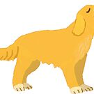 golden dog by Tiphanie Beeke